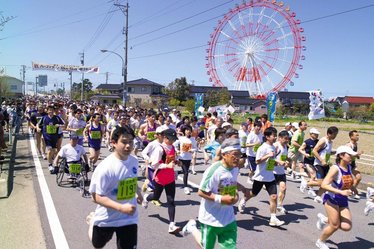 県内外からの参加者で盛り上がる「しんきろうマラソン」